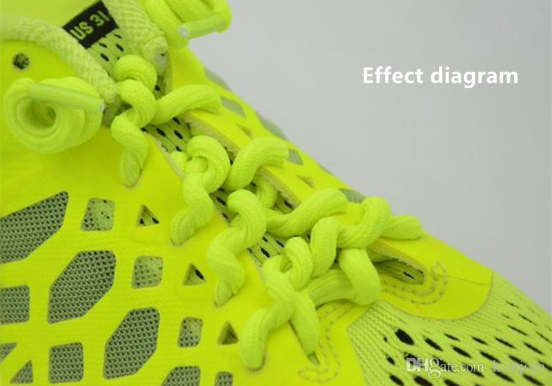 5 paar lockige elastische Schnürsenkel Keine Krawatte Trainer Kinderschnürsenkel Farben für Kinder und Erwachsene Best in Sports Flat Schnürsenkel