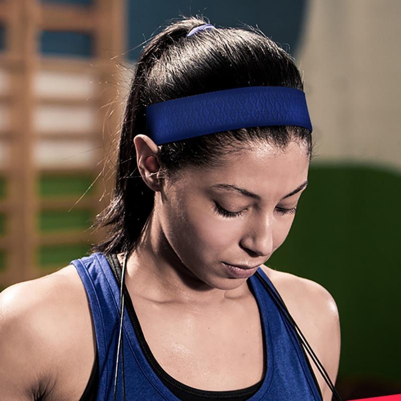 bfd1efb2ac26 2019 New Anti Sweat Women Sport Headband Overgrip Quick Drying Breathable  Tennis Fitness Yoga Running Head Bandage Headband 2018 From Dinaha