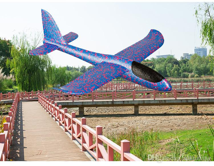 48cm Foam Throwing Glider Air Plane Inertia Aircraft Toy Hand Launch Airplane Model Outdoor Sports Flying Toy for Kids Toys