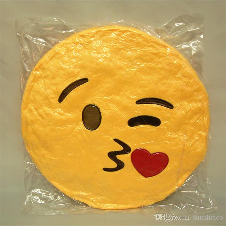 40 styles emoji pillow 32cm plush pillow with core expression cushion carton smiley round pillow yellow color emotions cushions toys gifts