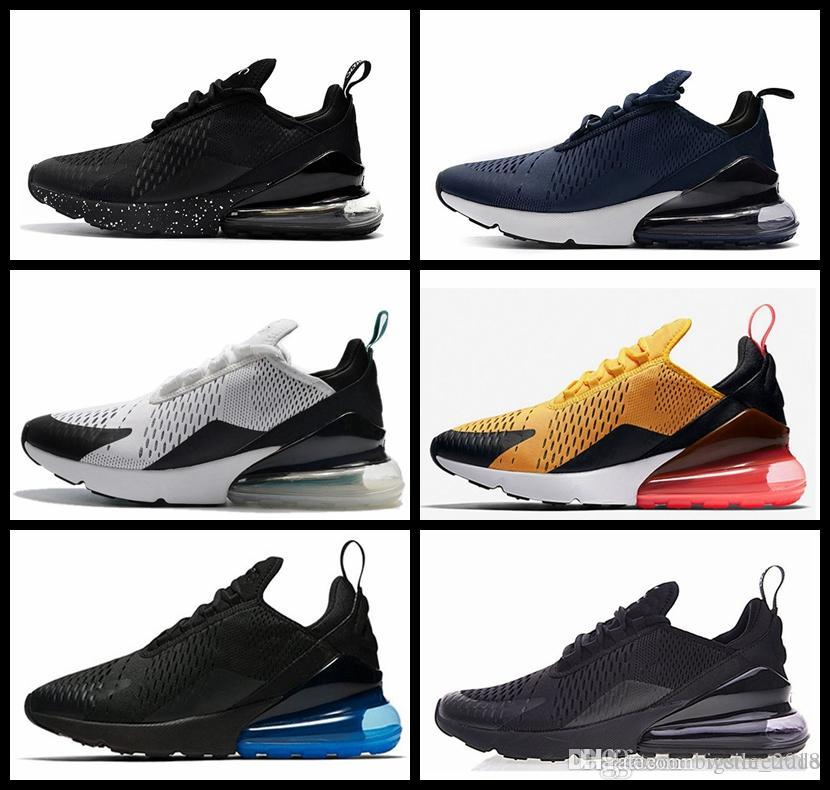 competitive price acd0b e121c Acheter 2018 Hommes 270 Chaussures De Course 270 S Vapormax Femmes Sneaker  Designer Triple Marque Noir Blanc Oreo Athlétisme Sport Sneakers Au Large  De ...
