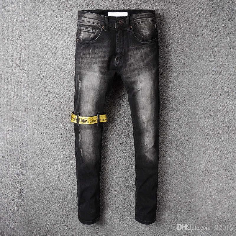 Großhandel Italienische Designer Herren Robins Jeans Runway Schlank Racer  Biker Jeans Mode Hiphop Dünne Robin Jeans Für Männer Denim Jogger Hosen  Plus Größe ... 64c7cf87f1