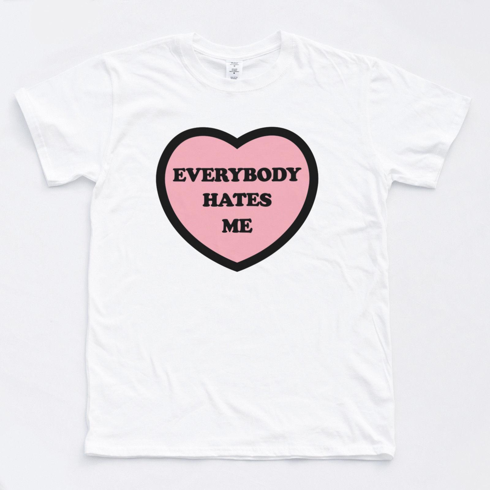 0c39dfff031e3 Acheter Tee Shirt Haine Coeur Doux Doux Amour Amour Hipster Rétro Rétro  Vintage Slogan De $11.17 Du Tshirtemperor23 | DHgate.Com