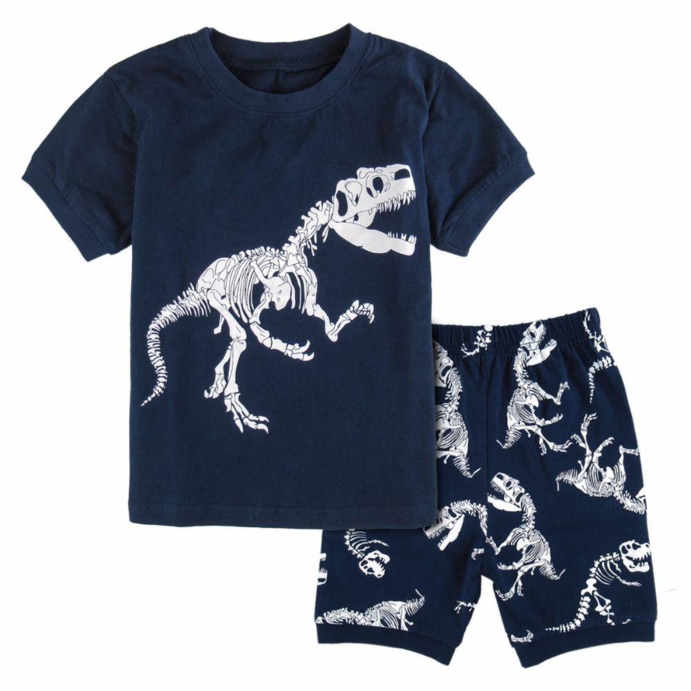 3f3b1849f Pajamas For Boys Dinosaur Pyjamas Kids Summer Clothes Set Pijama Child  Cartoon Sleepwear Loungewear Children Nightwear Girls Pjs On Sale Christmas  Pyjamas ...