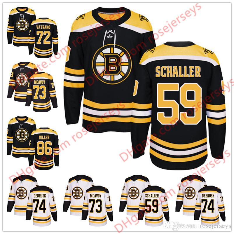 2019 Boston Bruins  59 Tim Schaller 72 Frank Vatrano 17 Ryan Donato 74 Jake  DeBrusk 86 Kevan Miller 2018 Black White Hockey Jerseys S 60 From  Rosejerseys 767ce2571