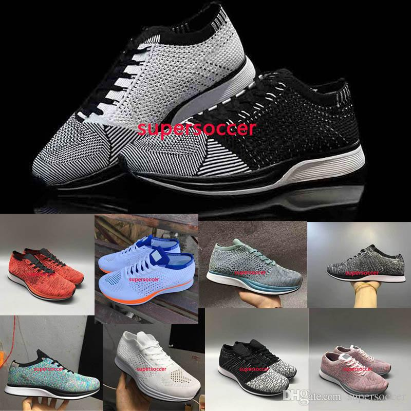 7cb5f19d2434 Wholesale Men Women Casual Racers Running Shoes Trainer Chukka Black Red  Blue Grey Lightweight Breathable Walking Sneakers Sports Shoes