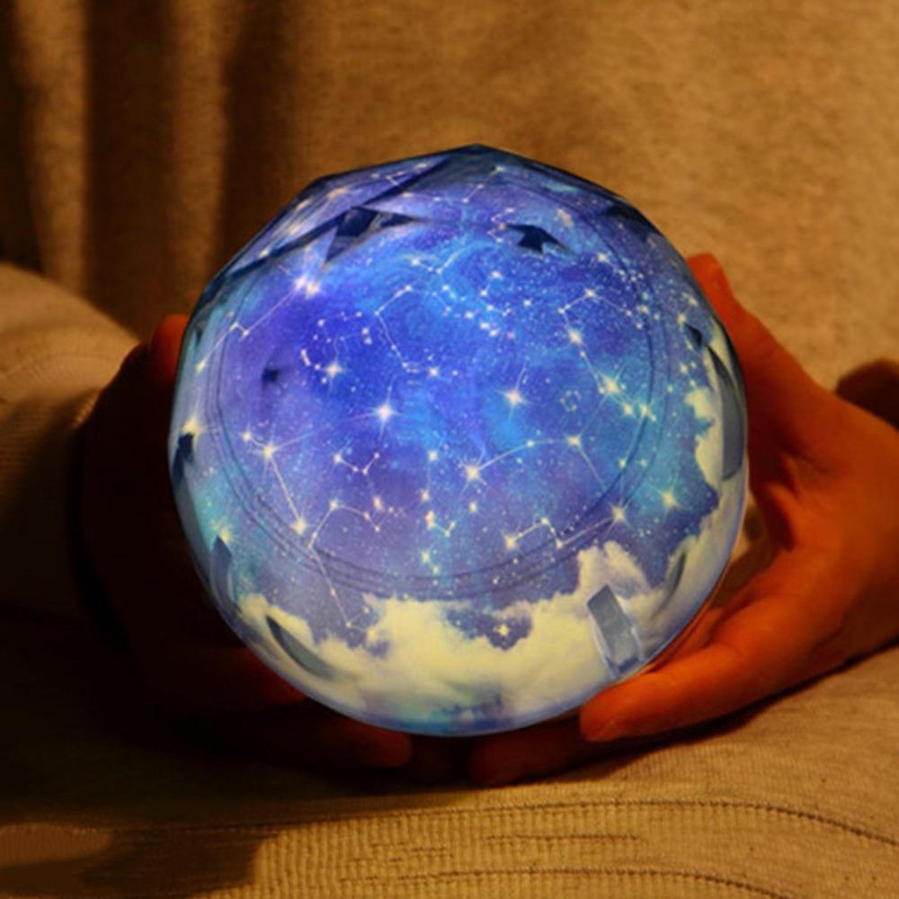 Lumières Planet Pour Lampe Star Projecteur Led Magic Cosmos Ciel Univers Cadeau Galaxy Bébé Étoilé Light Rotation Night Luminaria Moon oedCxrB