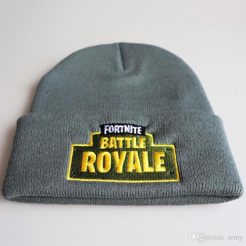 765830eb3e0 Fortnite Battle Knitted Hat Fashion Hip Hop Embroidery Knitted ...