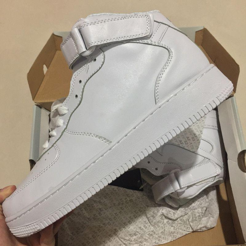 Acquista Nike Air Force 1 2018 Forze Classiche All White Nero Grigio Basso  Alto Taglio Uomo Donna Casual Scarpe Forceing One Skate Scarpe US 5.5 12 A   30.46 ... b930a51852f
