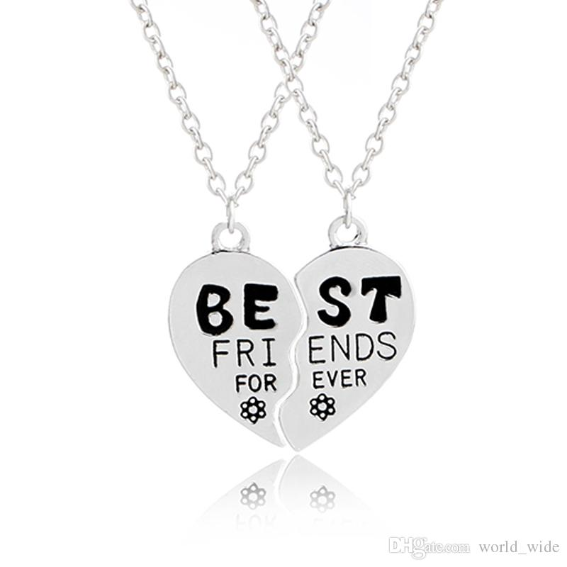 Wholesale Bff Necklace Pendants Women Best Friends Forever For 2