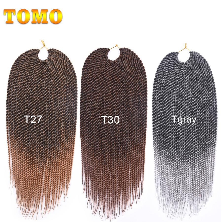 Grey Color Senegalese Twist Braids Crochet Braiding Hair Extensions For Black/white Woman Synthetic Kanekalon Twist Braids Hair 30Roots/pack
