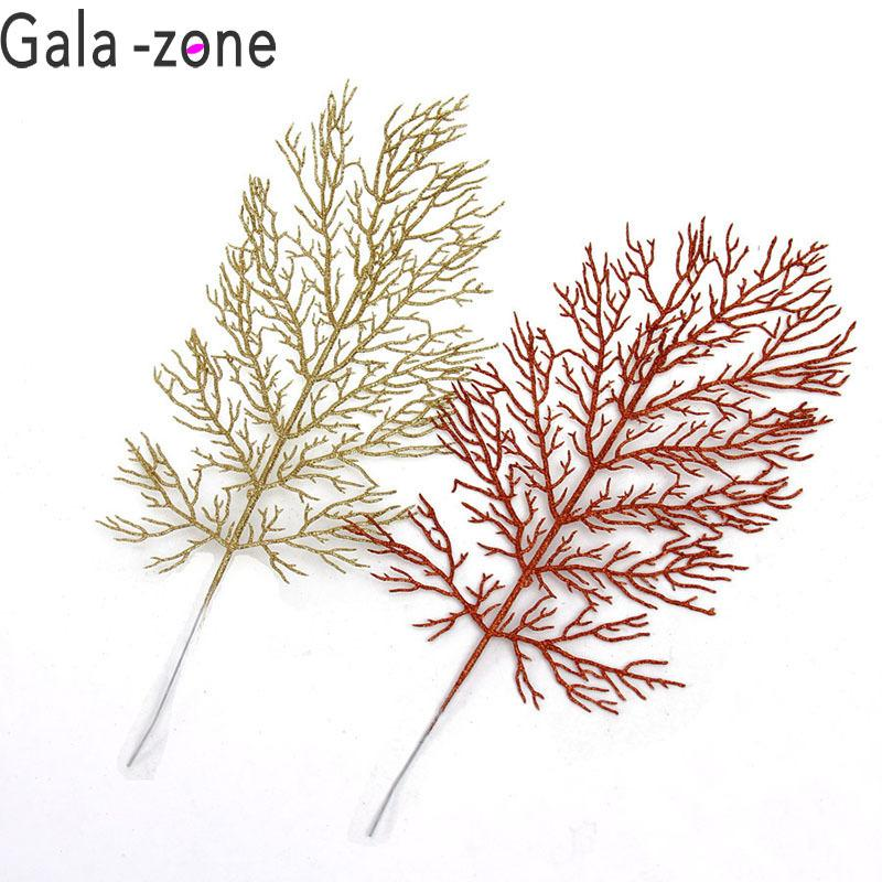 Christmas Tree Halle Leaves Accessories Gold Silver Artificial
