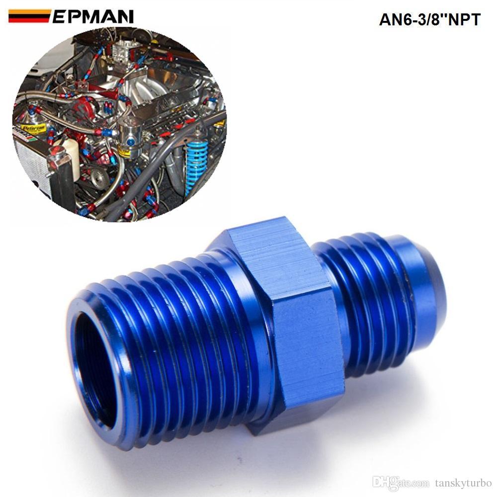 10ピース油/燃料ラインホース/ゲージオス/ホースユニオンエンドフィッティングアダプターアルミニウム用オイルクーラー/ゲージAn6-3 / 8''npt