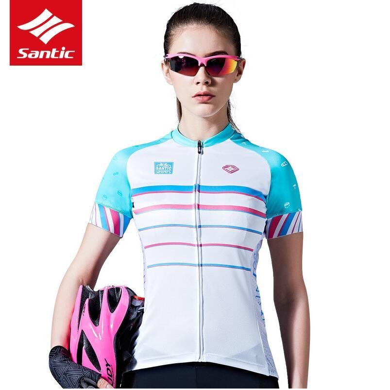 Santic Women Cycling Jersey Short Sleeve Pro Fit Functional Ultra ... ad419b7f9