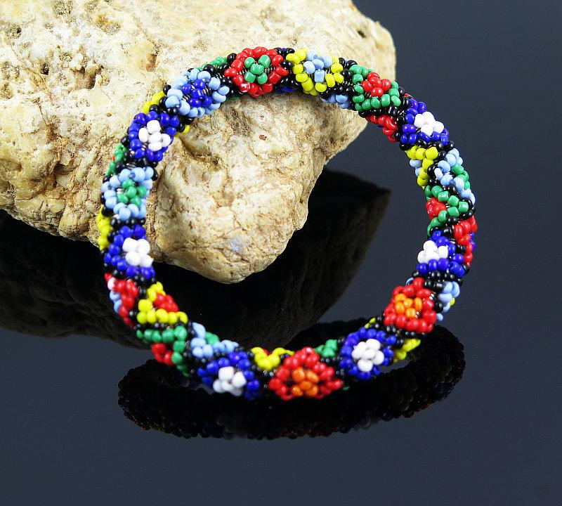 Nepal Handmade Bead Bracelet Hippy Friendship Popular Roll Crochet
