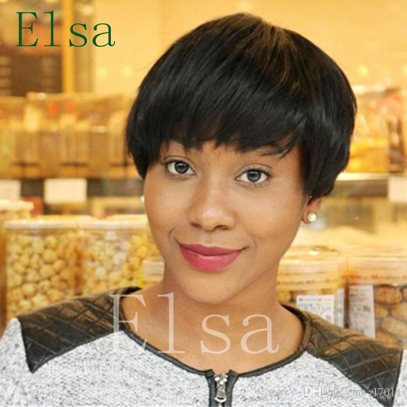 Natural Hair Style Cuts Short Brazilian Human Hair Bob Cut Wigs
