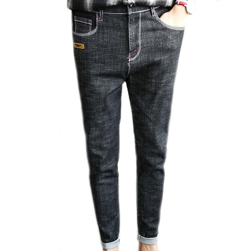 88974f2d0163 Acquista Pantaloni Jeans Uomo Tinta Unita Design Patch Creativo ...
