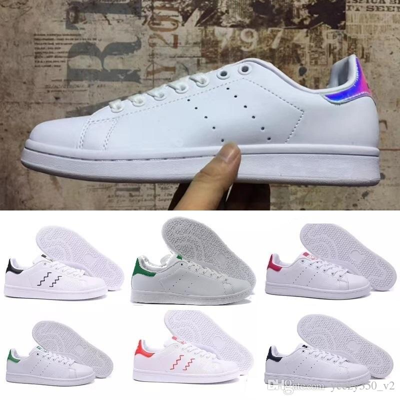 acheter Adidas basket original Stan Smith homme femme Soldes BlancheVert S75074 sneakers 2018 France soldes