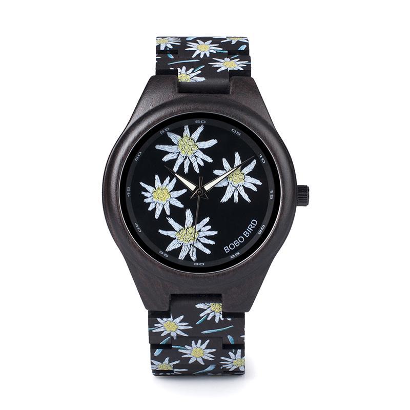 b82ae60ef1a Compre Assistir Para 3 Modelos BOBO PÁSSARO New Special Gifts Relógios UV  Imprimir Relógio De Madeira Preta Para Homens Mulheres Presentes De Natal  Relogio ...