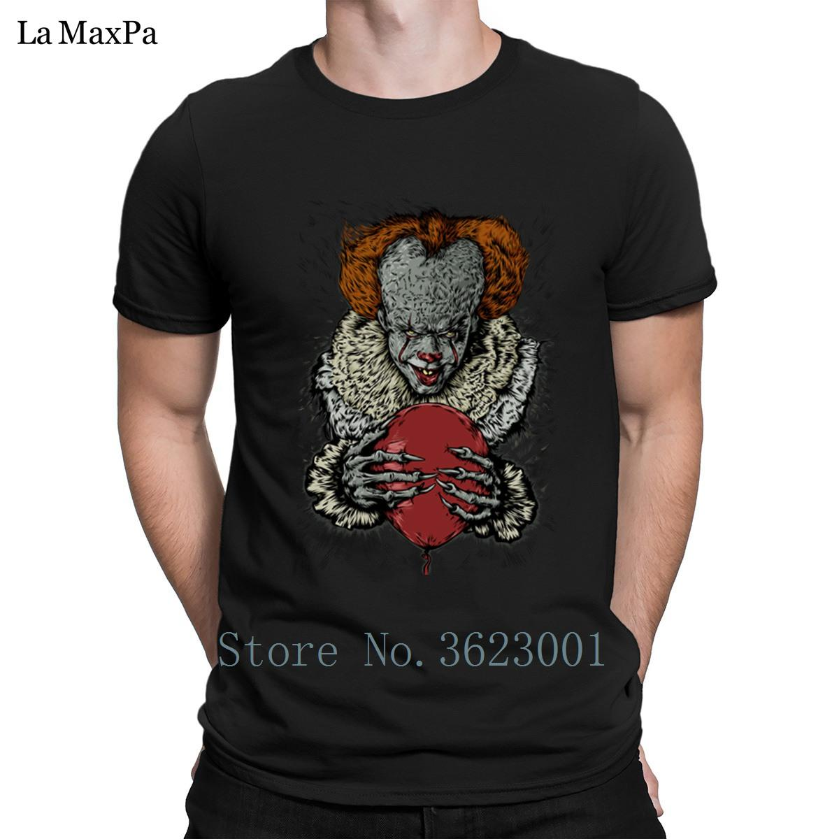 f3ce881f8 Custom Leisure T Shirt Spring Autumn Evil Clown T Shirt For Men Humor  Clever Tshirt Cotton Men Tee Shirt Crazy One Tee A Day Random Graphic Tees  From ...