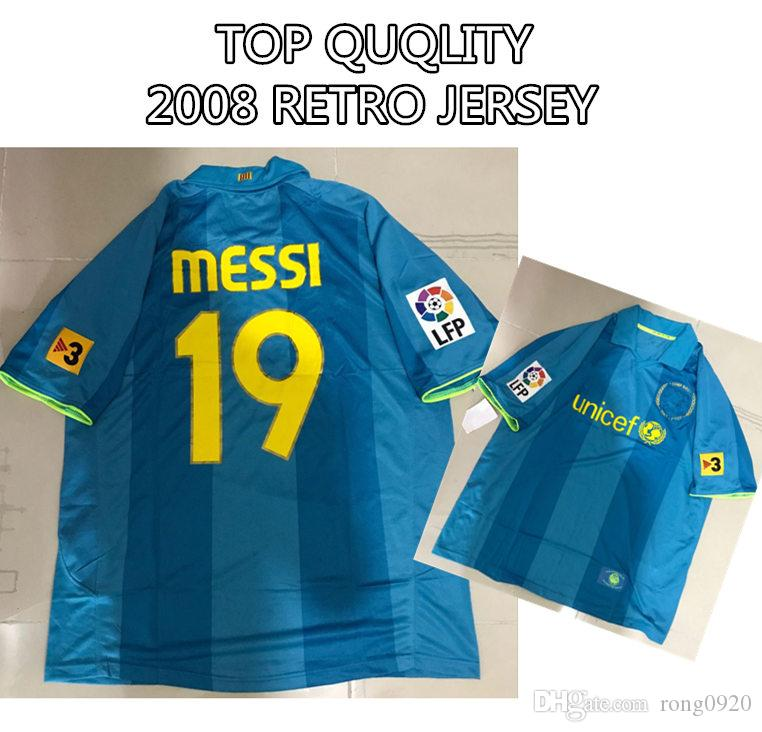8cb1aef48 2019 2007 2008 Retro Jersey  19 MESSI Top Thai Quality Soccer Shirt  Commemorative Edition Size S To XL From Rong0920