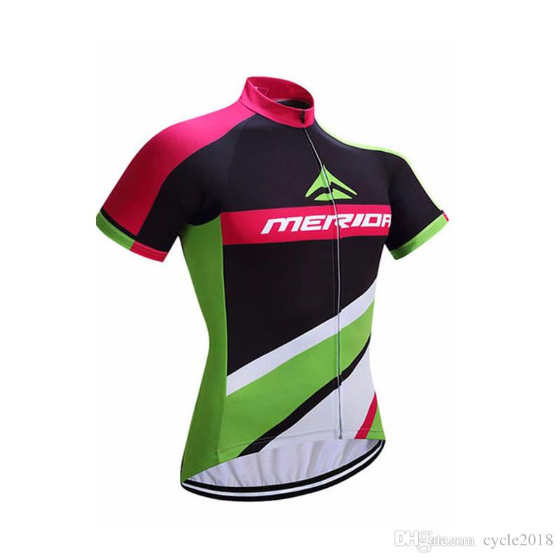 MERIDA Nuevos Hombres Manga Corta Ciclismo Jersey De Secado Rápido Camisas  De Bicicletas Pro Equipo Ropa De Ciclismo Ropa Transpirable Bicicleta Ropa  ... 831e97f37a1b3