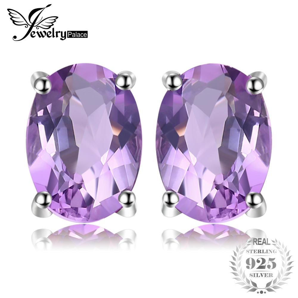 Creative Amethyst Pendant And Earrings Set Solid Silver Fine Jewelry Sets Diamonds & Gemstones