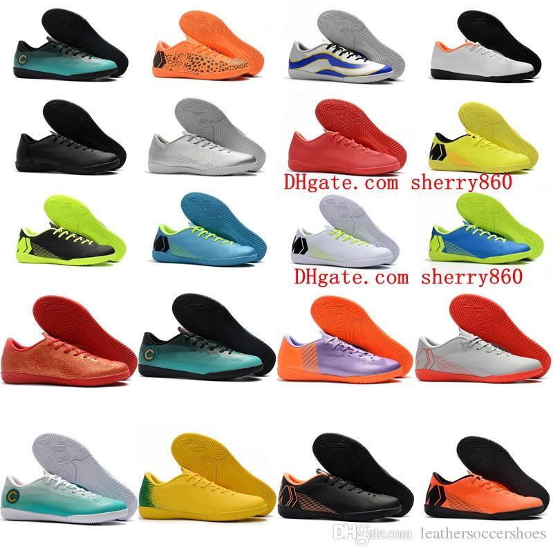 55099d70631 2019 2018 Mens VAPORX 12CLUB IC Soccer Cleats Indoor Soccer Shoes Mercurial  Superfly Neymar CR7 Football Boots Ronaldo Scarpe Calcio Cheap Black From  ...
