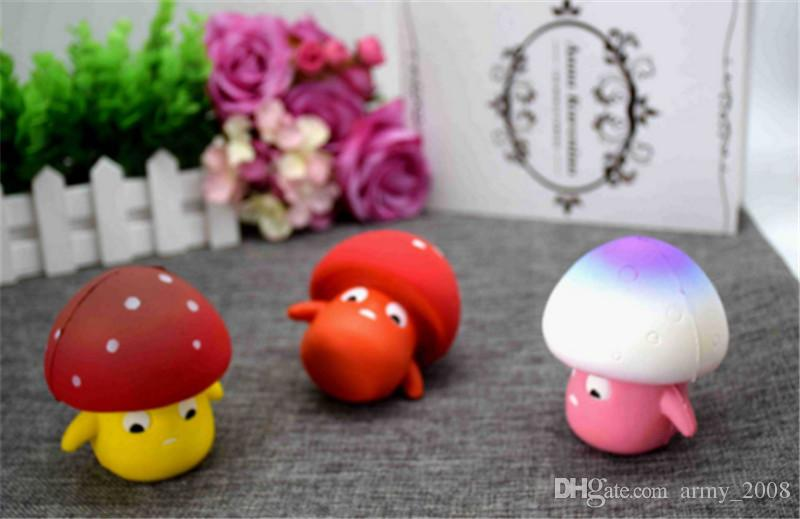 Squishy Mushroom Slow Rising Toy Decompression bread Relieve Stress Sweet Fruit Cell Phone Strap Phone Pendant Key Chain Toy Gift