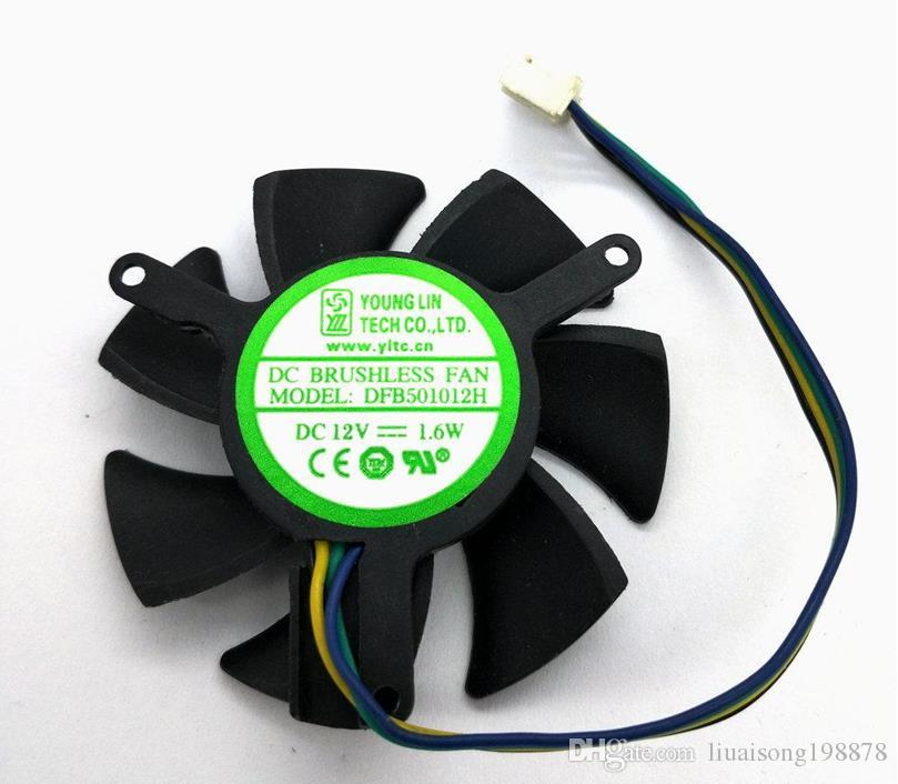 DFB501012H видеокарта вентилятор охлаждения 12В 1.6 Вт двойной мяч вентилятор охлаждения