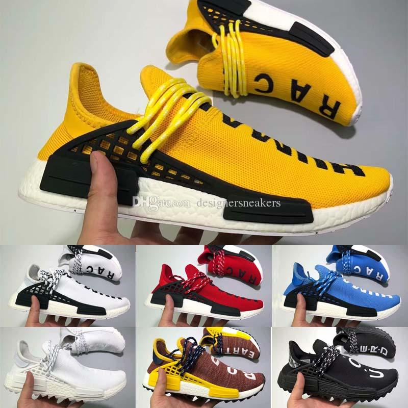 f9cdd8e595eb8 36 47 Human Race Trail Running Shoes MenWomen Pharrell Williams HU Runner  Yellow Black White Red Green Grey Blue Sports Runner Sneaker Dress Shoes  For Kids ...