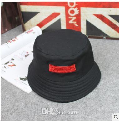d121ee31ee 2019 Brand Designer Leather Letter Bucket Hat For Mens Womens Foldable Caps  Black Fisherman Beach Sun Visor Sale Folding Man Casquette Bowler Cap From  ...