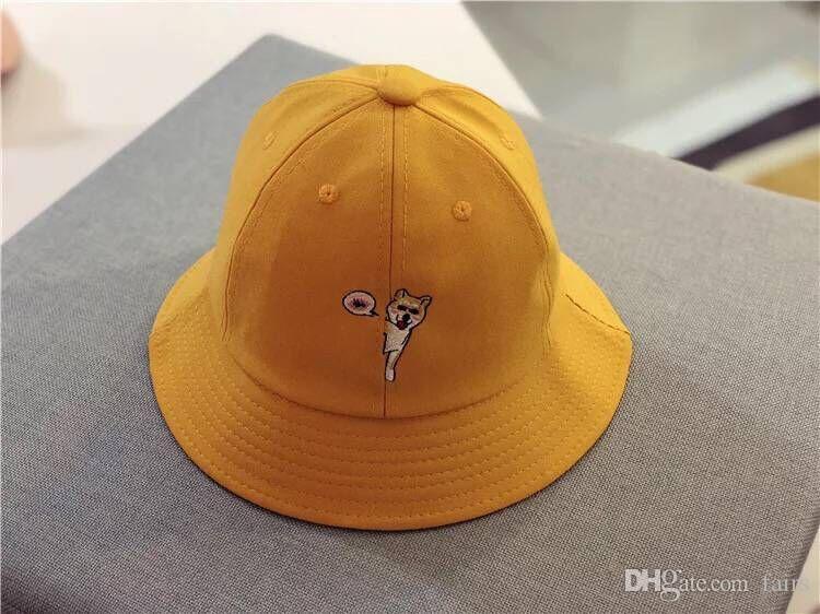 2018 Spring Children Cute Fisherman Sun Cotton Tongue Dog Basin Hat ...
