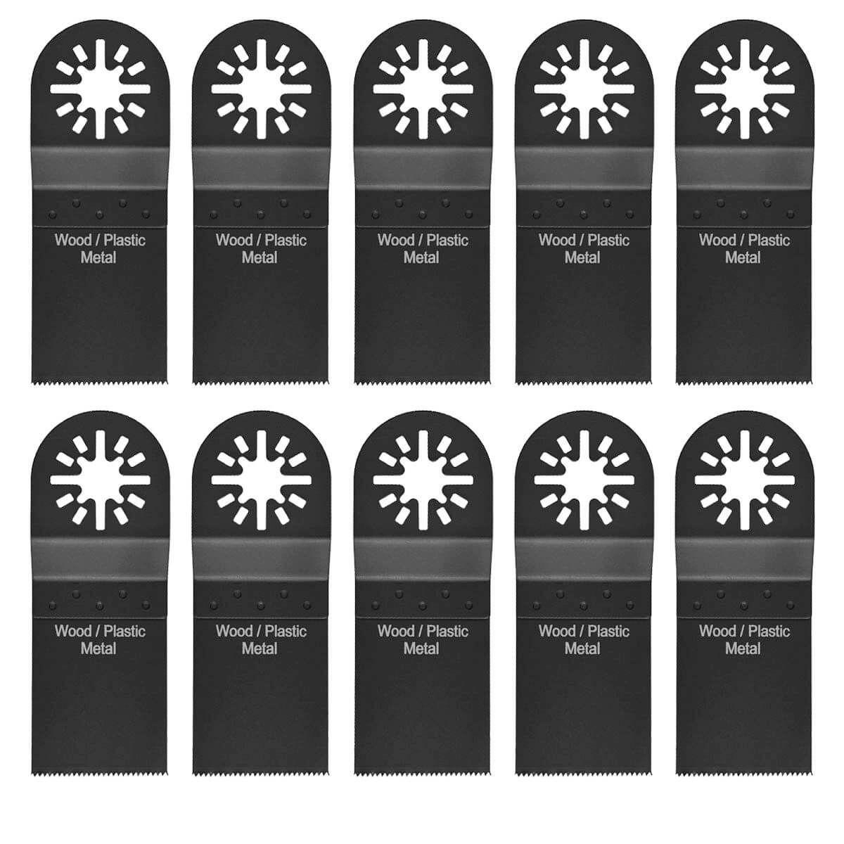 10pcs Bi Metal Oscillating Multi Tool Saw Blades for Bosch Ryobi Makita  Skil Ridgid Milwaukee Einhell AEG