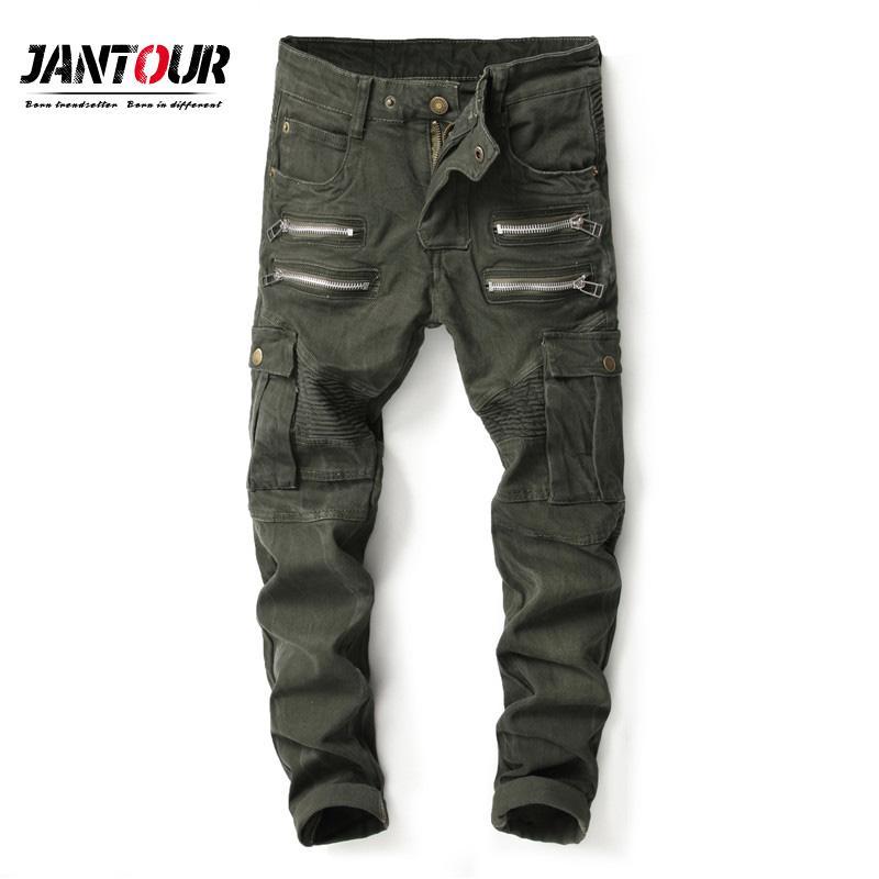 Hommes Latérales Jean Masculina Camo Hombre Avec Pantalon 2018 Poches Coton Jeans Pantalons Casual Moyenne Camouflage Taille 43q5jRAL