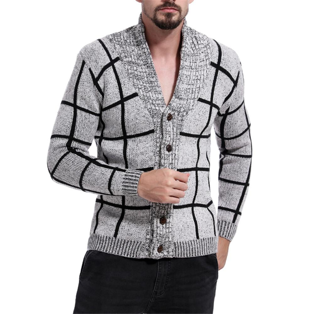 ebd19a7ef 2019 Patchwork Winter Sweater Men Fitness Sexy V Neck Hip Hop ...