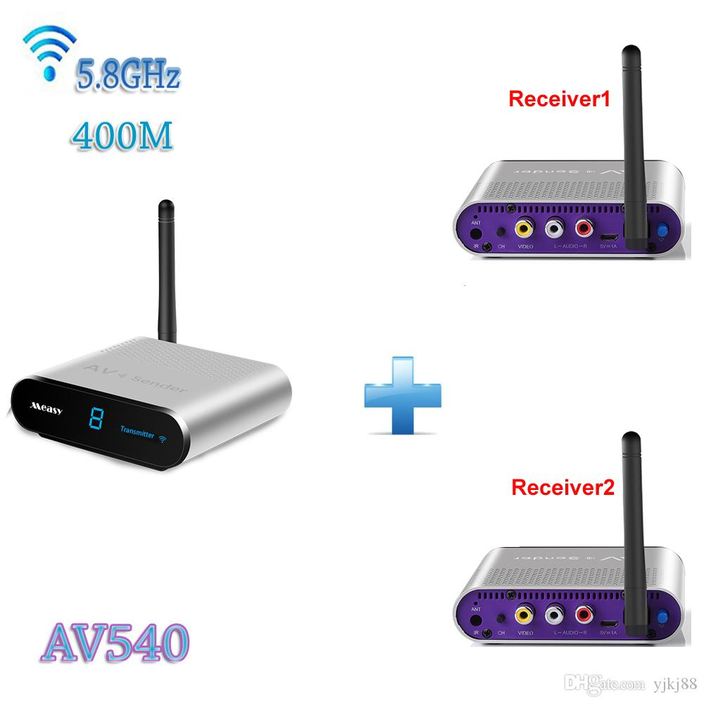 Cheap MEASY AV540 2 1X2 58 GHz Wireless TV Transmitter Receiver Up To 400 Meters 1320 Feet