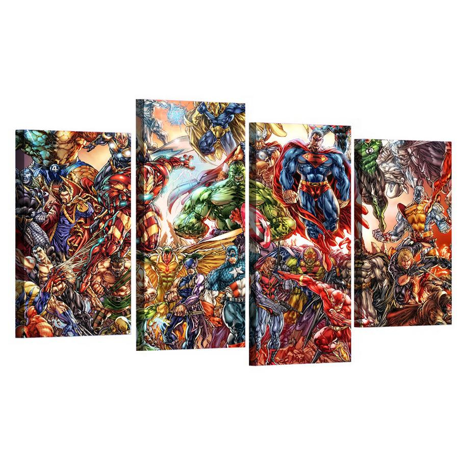 Satın Al Marvel Comics Superman Hulk Elmas Boyama 4 Adet Tam Kare