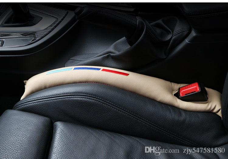 Almofada de Gap Almofadas Do Assento de Carro de Couro Falso Espaçador Enchimento Plugue Ranhura Para bmw e46 e39 e60 e90 f30 f10 f34 x1 x3 x5 x6 acessórios