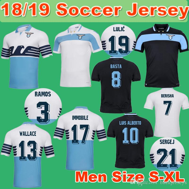 817857bcbf4 2018 2019 benfica adidas home football shirt  18 19 lazio soccer jersey  2018 2019 lazio luis alberto home away third jerseys shirt immobile