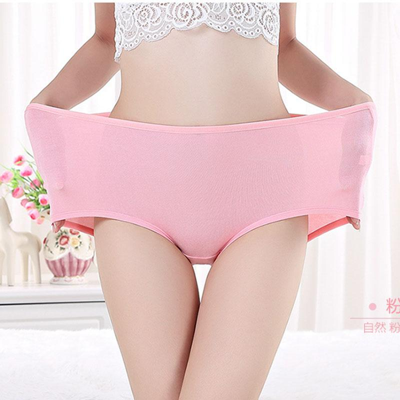 5f5ad81a386 Sexy Soft plus size Solid women panties bamboo ladies  panties high waist  Slim women underwear briefs big yards of female briefs. Store-wide Discount