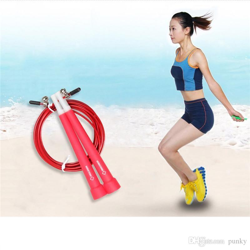 Wholesale 3M Steel Wire Skip Rope Cord Speed Fitness Aerobic Jumping Exercise Equipment Adjustable Boxing Skipping Sport Jump Rope