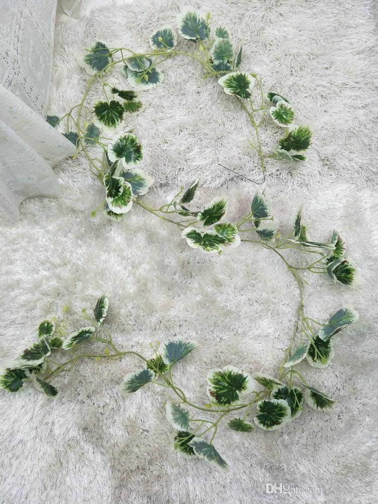 1.8m Long Artificial Plants Green Ivy Leaves Artificial Grape Vine Fake Foliage Leaves Home Wedding Decoration