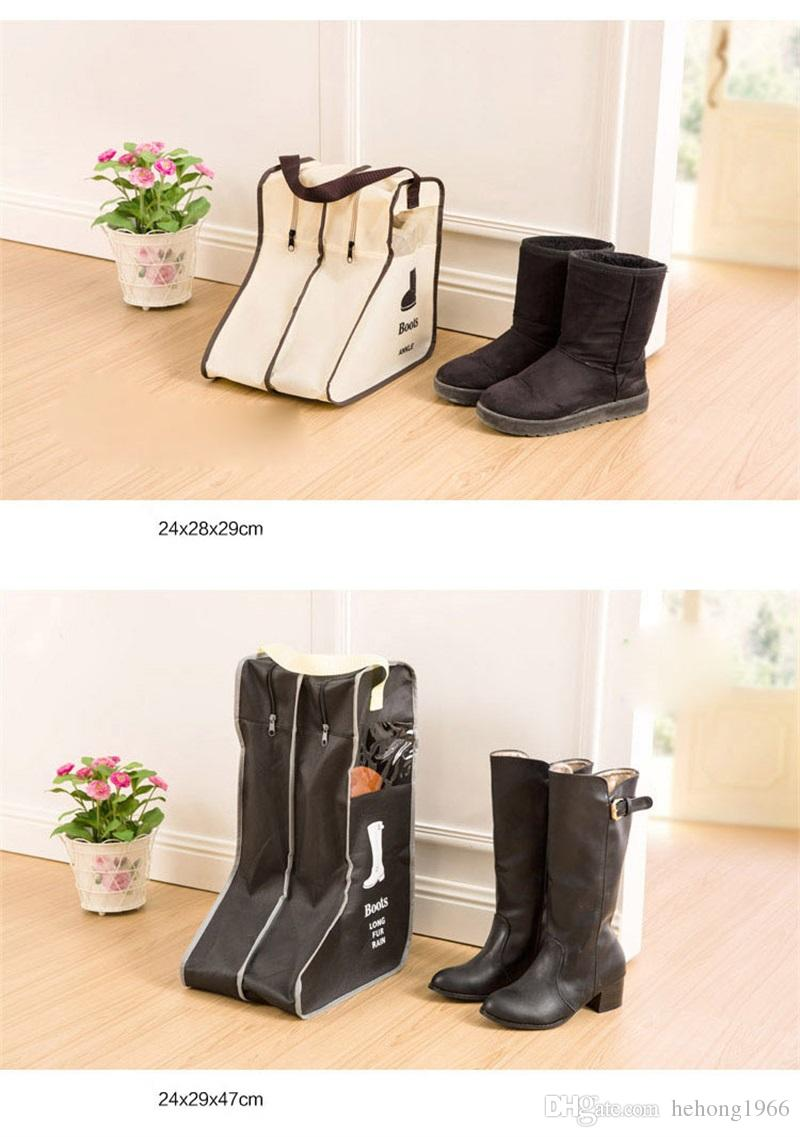 Nonwoven Fabric Visual Boots Cover Short Long Tube Shoe Storage Bags Creative Dustproof Moistureproof Shoes Covers Hot Sale 7lh Z