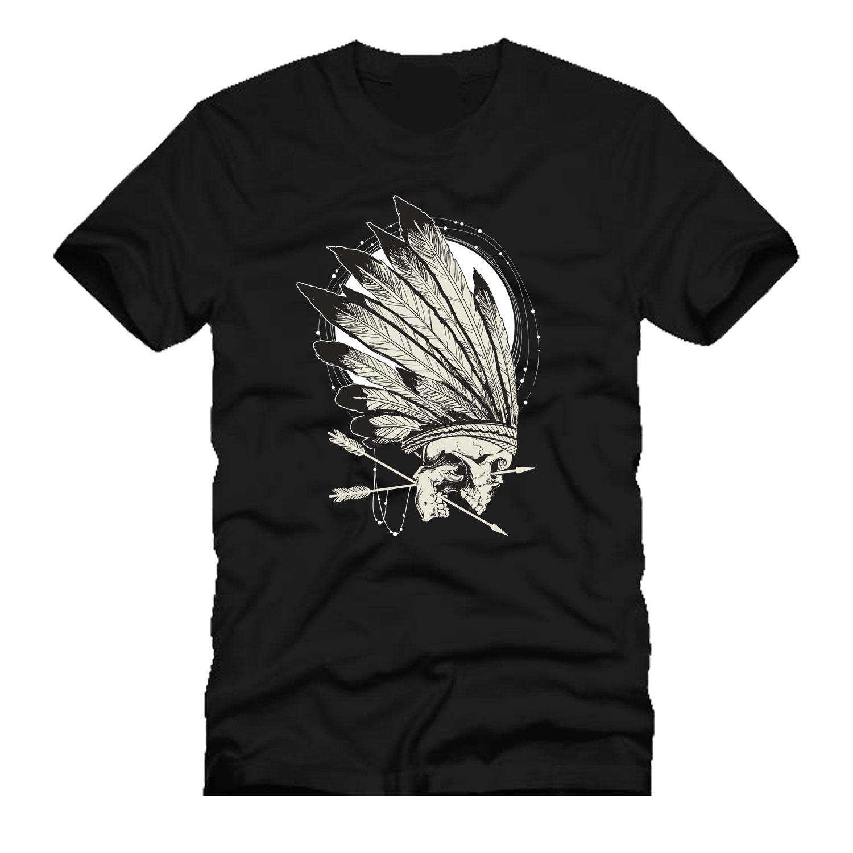 bda31829f Conquers Skull Indian Arrow Head Chieft T Mens Mashup Tee Parody T SHIRT  Cool Casual Pride T Shirt Men Unisex New Fashion Tshirt Super Cool T Shirts  And T ...
