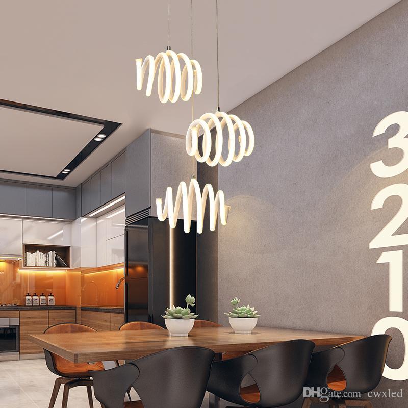 Großhandel Moderne Pendelleuchten Für Wohnzimmer Esszimmer Acryl ...