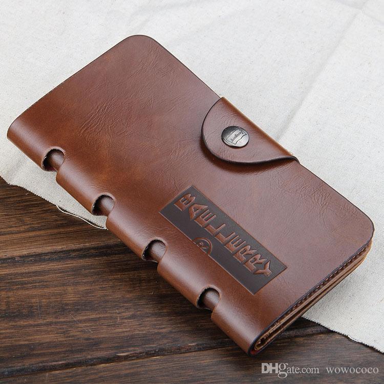 Новый урожай PU мужские длинные кошельки штраф двойные 4 стили искусственная кожа кредитной карты прохладный три раза бумажник для мужчин A084