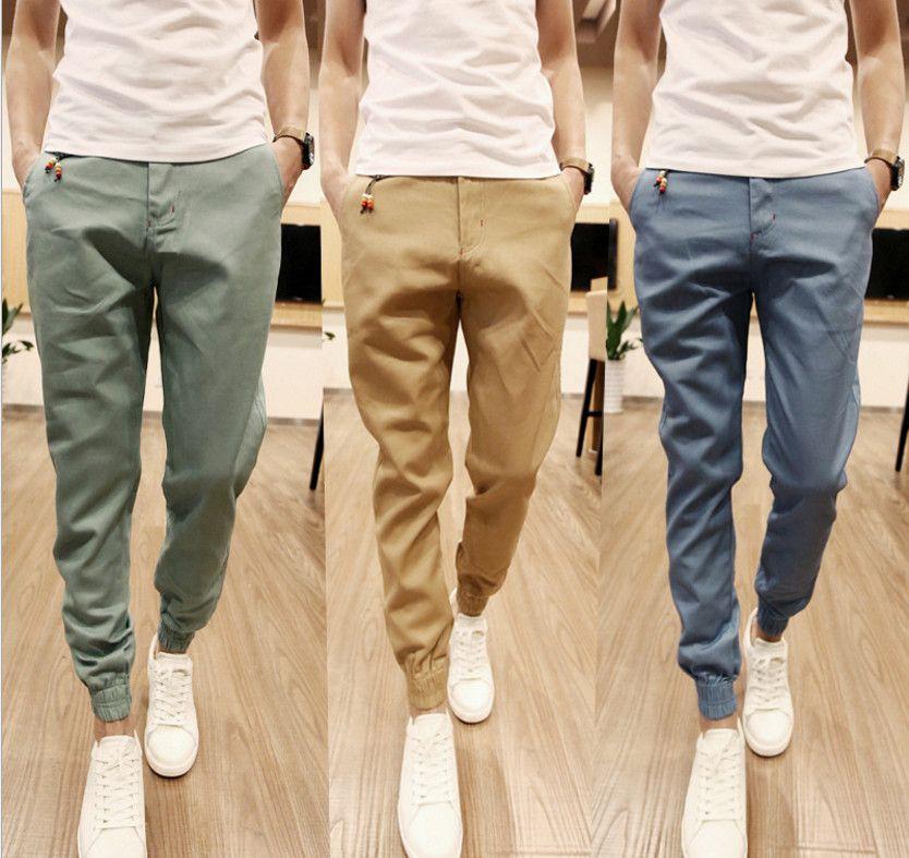 Free Shipping Mens Skinny Joggers Chinos Slim Pants Men Trousers Hip Hop Pantalones Hombre Plus Size S 3xl