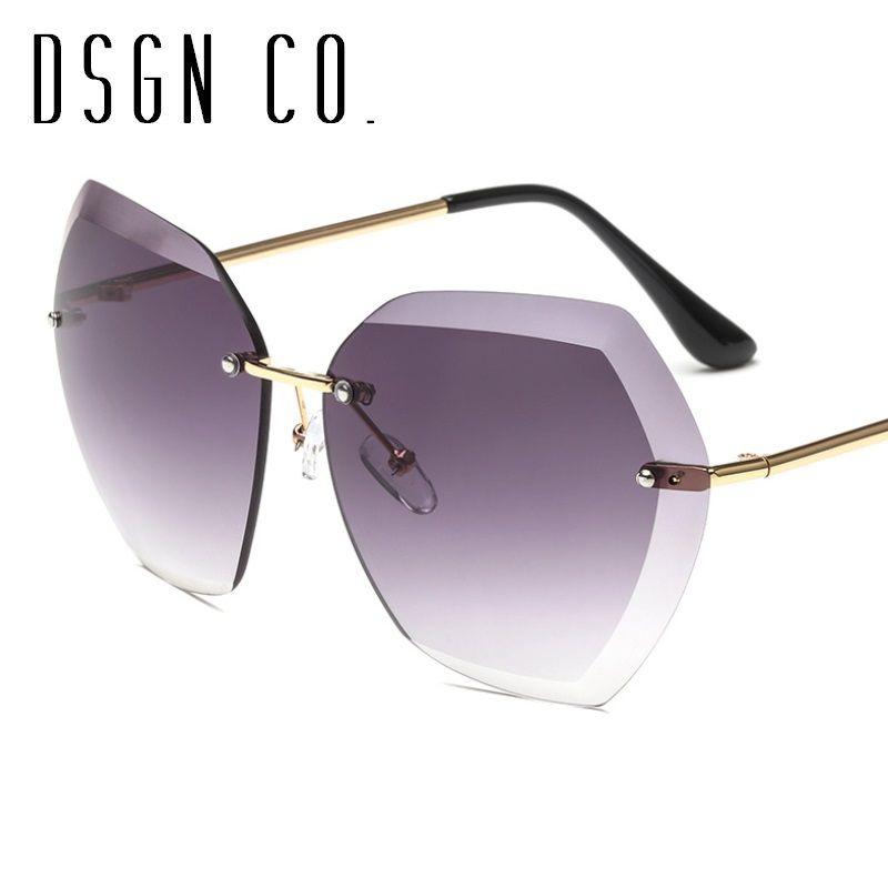 5438d42e7c DSGN CO. 2018 Hot Trendy Sunglasses For Men And Women Rimless ...