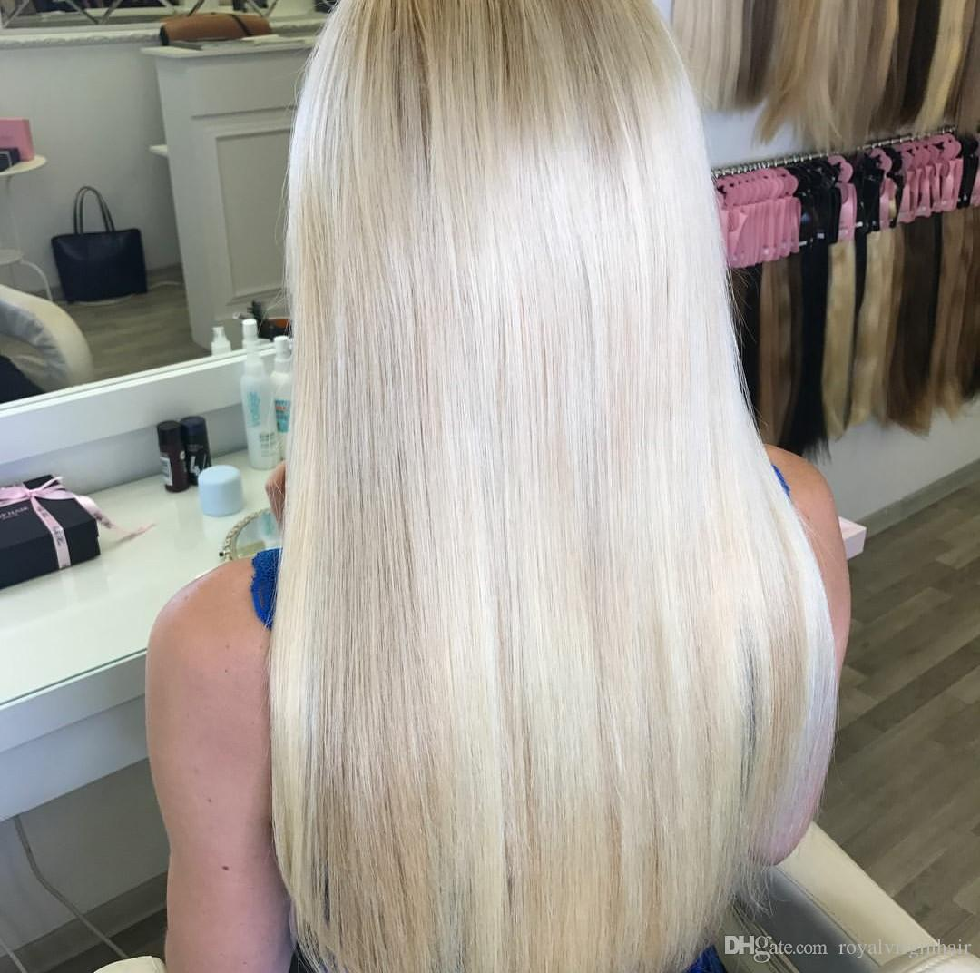 60 Russian Flip In Hair Extensions Silk Straight Remy Hair 14inch